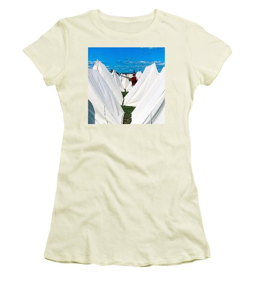 Field Of Tents Women's T-Shirt (Junior Cut)