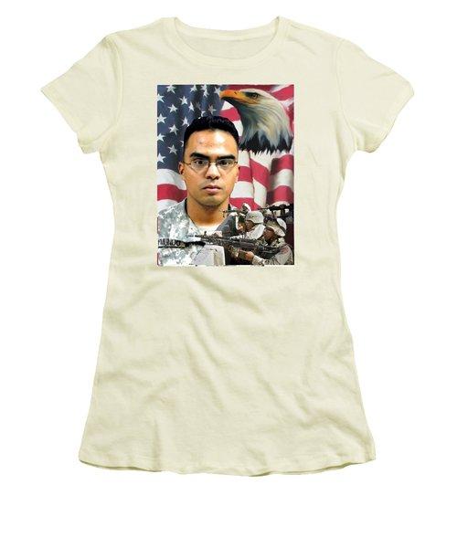 Texas Fallen Women's T-Shirt (Junior Cut) by Ken Pridgeon