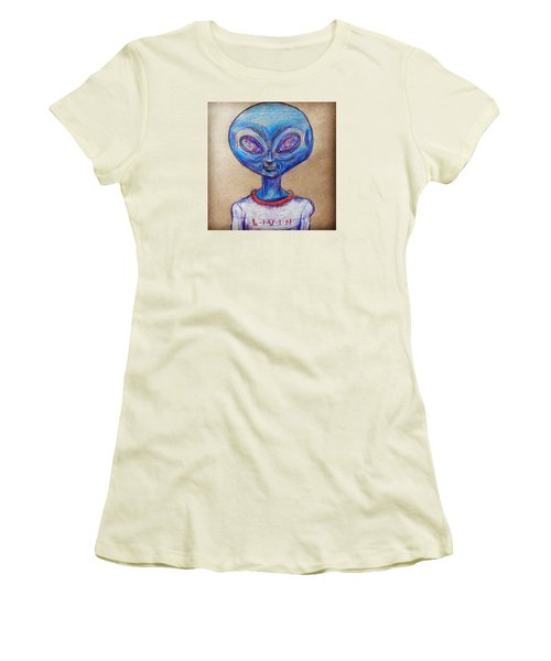 The Alien Is L-i-v-i-n Women's T-Shirt (Junior Cut)