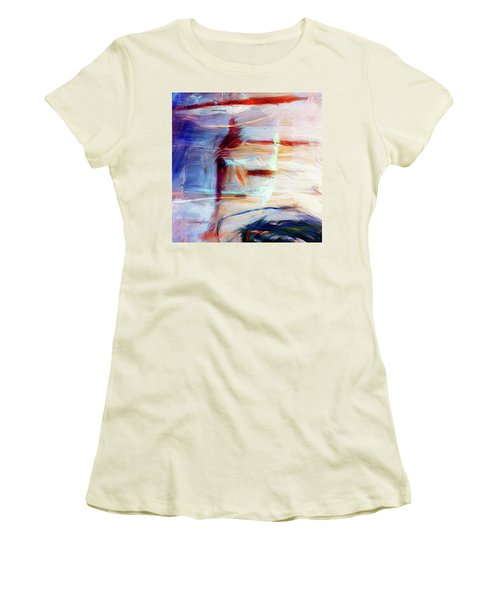 Women's T-Shirt (Junior Cut) featuring the painting The Auberge by Dominic Piperata