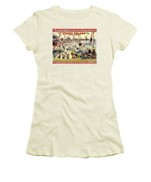 The Barnum And Bailey Greatest Show On Earth The Great Coney Island Water Carnival Women's T-Shirt (Athletic Fit)