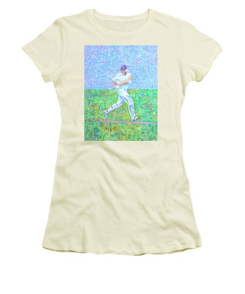 Women's T-Shirt (Athletic Fit) featuring the photograph The Batsman by Elizabeth Lock