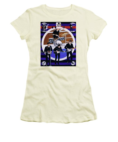 The Beatles - Live On The Ed Sullivan Show Women's T-Shirt (Athletic Fit)