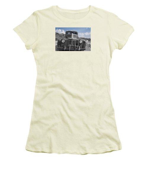 Women's T-Shirt (Junior Cut) featuring the photograph The Boss by Annette Berglund