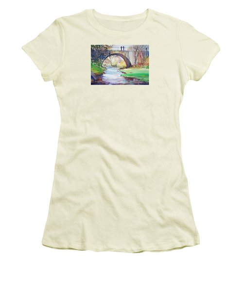 The Bridge Over Brewster Garden Women's T-Shirt (Athletic Fit)