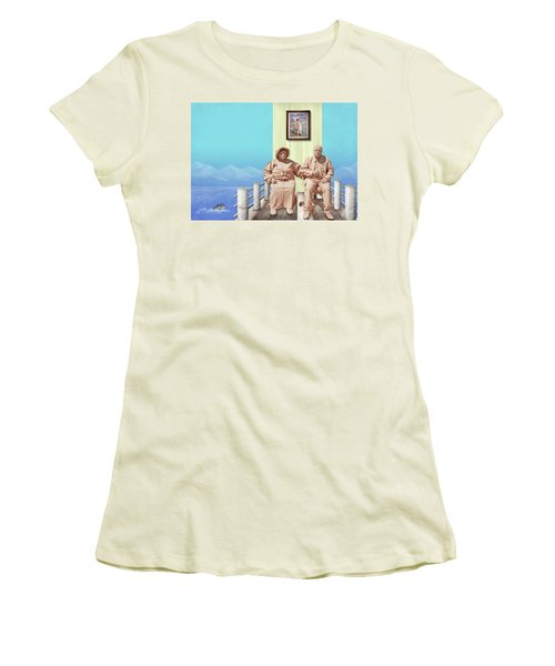The Cadburys On Vacation Women's T-Shirt (Junior Cut) by Marty Garland