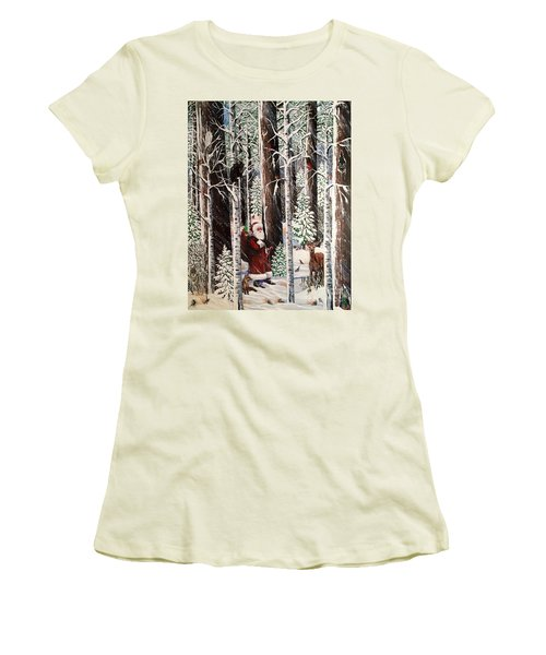 The Christmas Forest Visitor Women's T-Shirt (Athletic Fit)