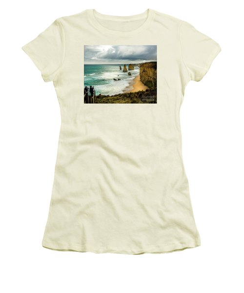 Women's T-Shirt (Junior Cut) featuring the photograph The Coast by Perry Webster