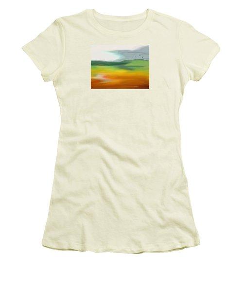 The Distant Hills Women's T-Shirt (Junior Cut) by Lenore Senior
