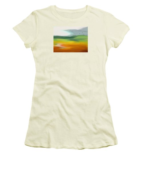 The Distant Hills Women's T-Shirt (Athletic Fit)
