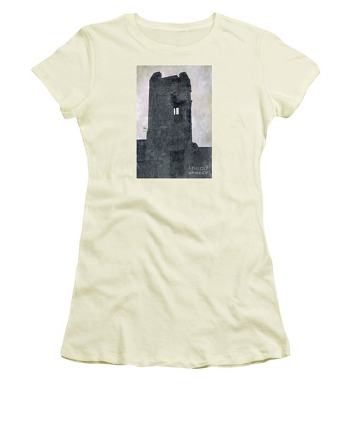 The Ghostly Tower Women's T-Shirt (Junior Cut) by Linsey Williams
