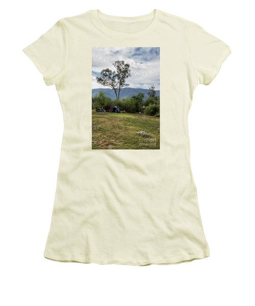 Women's T-Shirt (Junior Cut) featuring the photograph The Good Life by Linda Lees