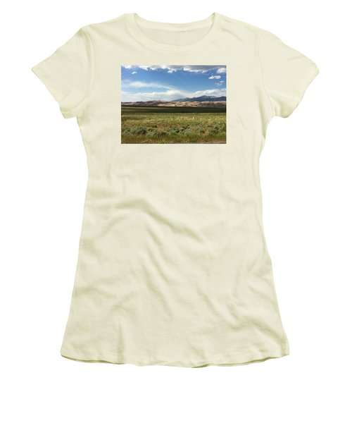 The Great Sand Dunes Women's T-Shirt (Junior Cut) by Christin Brodie