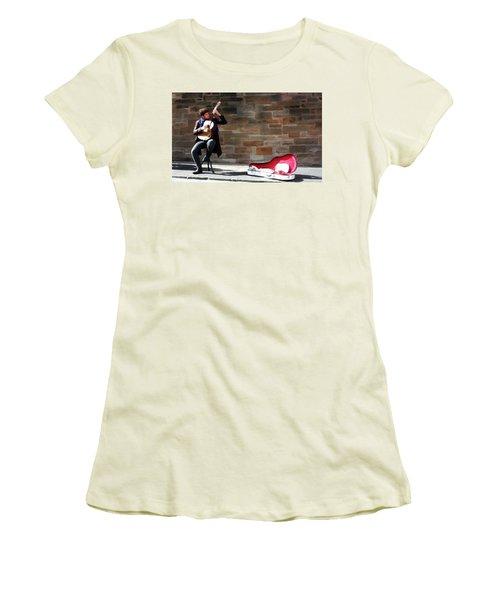 The Guitarist Women's T-Shirt (Junior Cut) by David Dehner