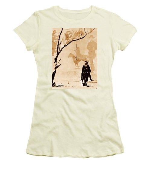 Women's T-Shirt (Junior Cut) featuring the digital art The Hangman's Tree by Seth Weaver