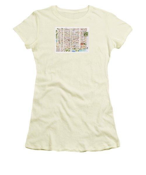 The Harlem Map Women's T-Shirt (Athletic Fit)