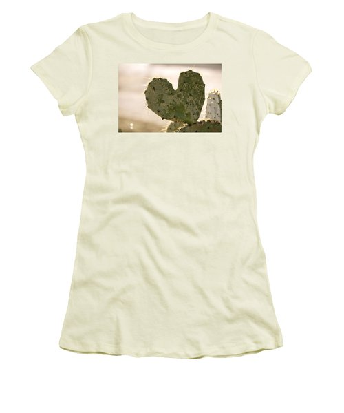 Women's T-Shirt (Junior Cut) featuring the photograph The Heart Of Texas by Debbie Karnes