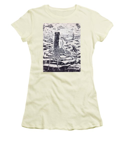 Women's T-Shirt (Junior Cut) featuring the painting The Horseshoe by Stan Tenney