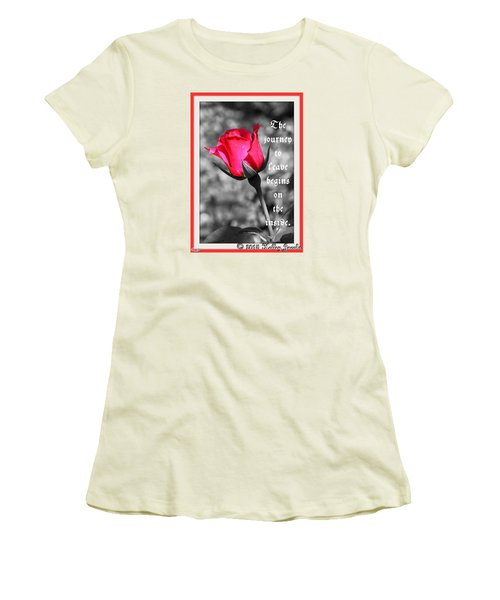 The Journey Begins Women's T-Shirt (Junior Cut) by Holley Jacobs