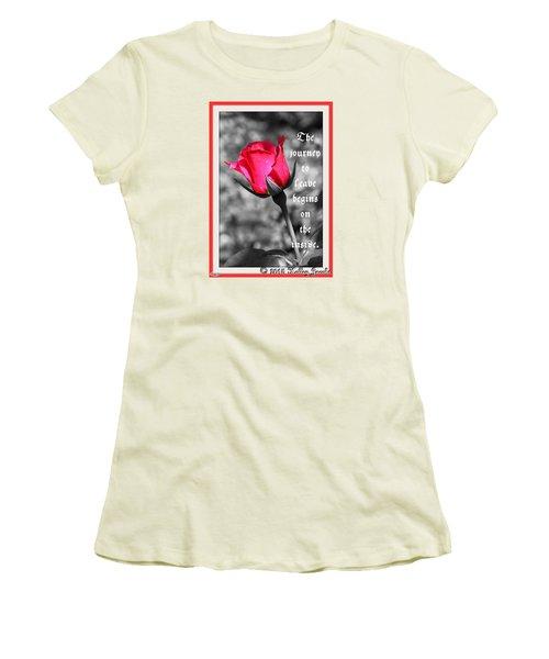 The Journey Begins Women's T-Shirt (Junior Cut)