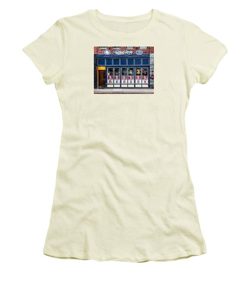 Women's T-Shirt (Junior Cut) featuring the photograph The Lasting Room - Haverhill Red Sox Pride by Betty Denise