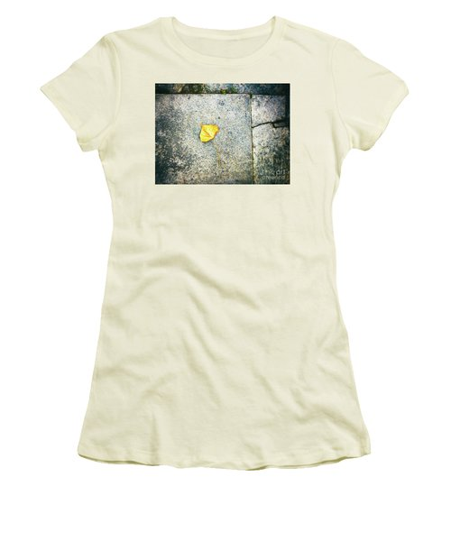 Women's T-Shirt (Athletic Fit) featuring the photograph The Leaf by Silvia Ganora