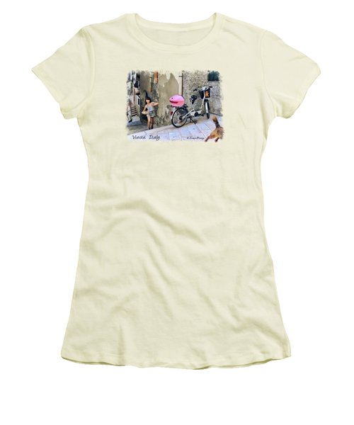 The Life.vieste.italy Women's T-Shirt (Junior Cut) by Jennie Breeze