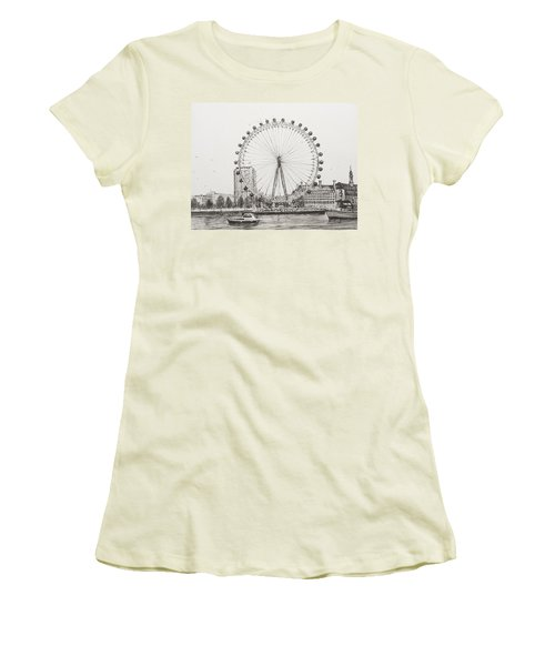 The London Eye Women's T-Shirt (Junior Cut) by Vincent Alexander Booth