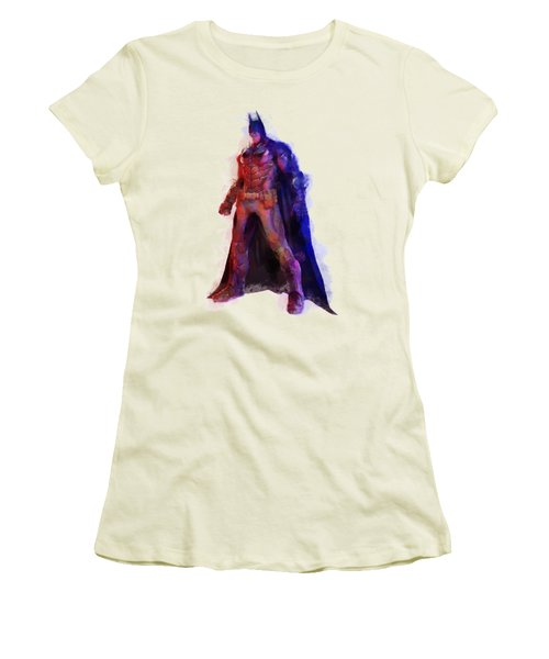 The Man With A Cape Women's T-Shirt (Junior Cut) by Caito Junqueira