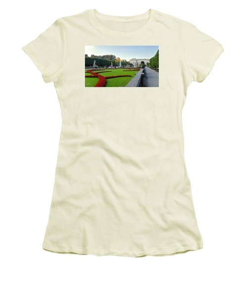 The Mirabell Palace In Salzburg Women's T-Shirt (Junior Cut) by Silvia Bruno
