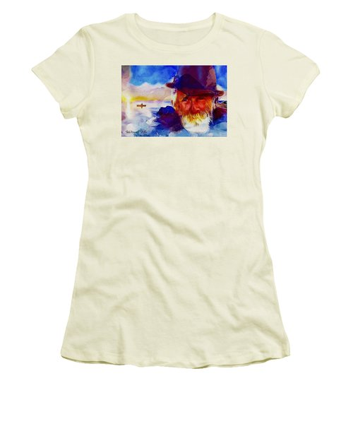 The Old Man And The Sea Women's T-Shirt (Junior Cut) by Ted Azriel