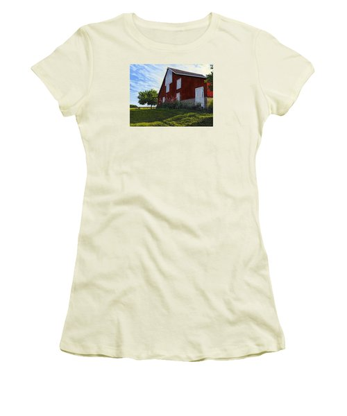 The Old Stucco Barn Women's T-Shirt (Athletic Fit)