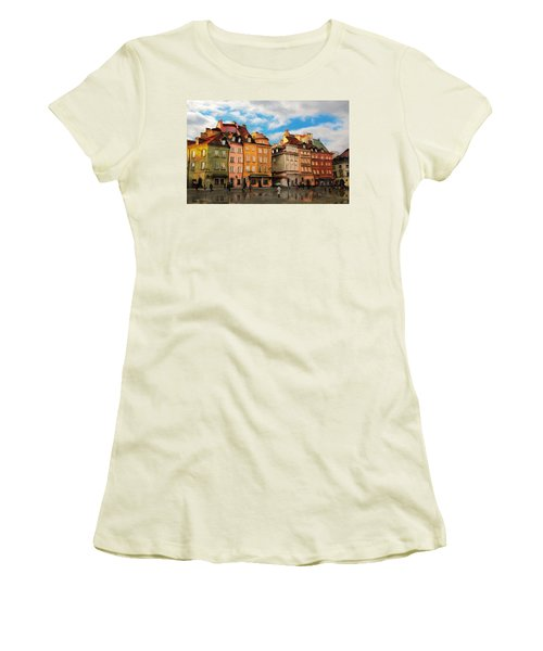 Old Town In Warsaw # 23 Women's T-Shirt (Athletic Fit)