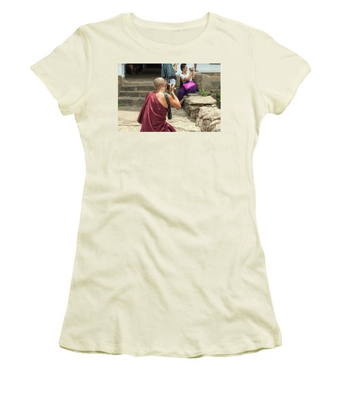 The Other Way Around Women's T-Shirt (Junior Cut) by Patricia Hofmeester