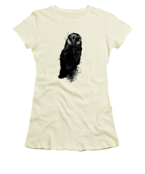 The Owl Women's T-Shirt (Junior Cut) by Nicklas Gustafsson