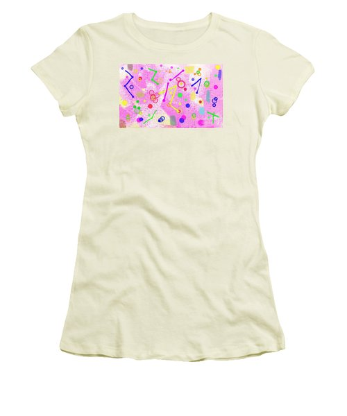 Women's T-Shirt (Athletic Fit) featuring the digital art The Party Is Here by Silvia Ganora