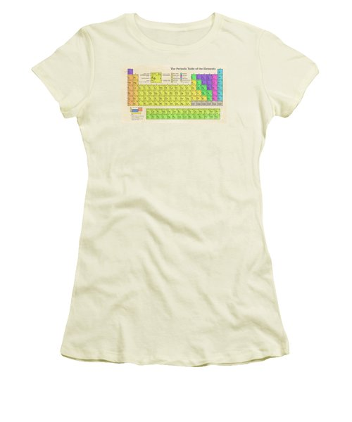 The Periodic Table Of The Elements Women's T-Shirt (Junior Cut) by Olga Hamilton