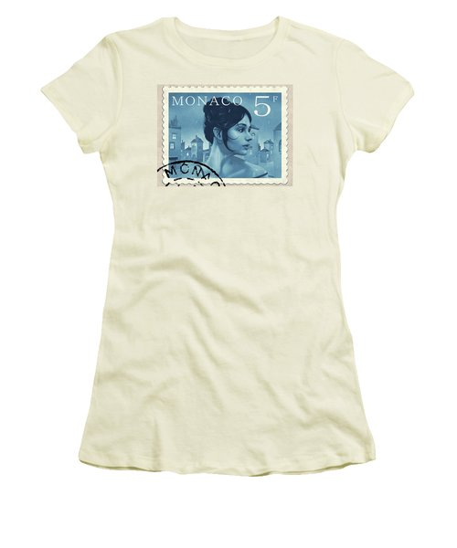 The Rainy Days Stamp Women's T-Shirt (Junior Cut) by Udo Linke