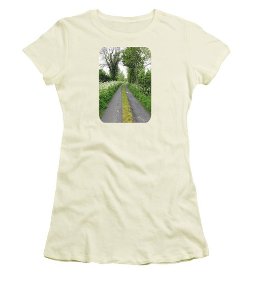 The Road To The Wood Women's T-Shirt (Junior Cut) by Ethna Gillespie