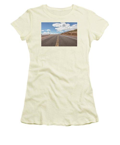 The Road Up Pikes Peak At Around 12,000 Feet Women's T-Shirt (Junior Cut) by Peter Ciro