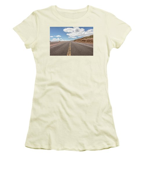 The Road Up Pikes Peak At Around 12,000 Feet Women's T-Shirt (Athletic Fit)