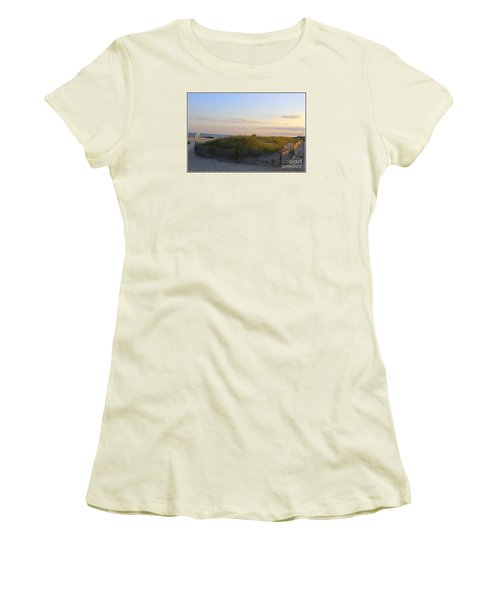The Sand Dunes Of Long Island Women's T-Shirt (Junior Cut) by Dora Sofia Caputo Photographic Art and Design