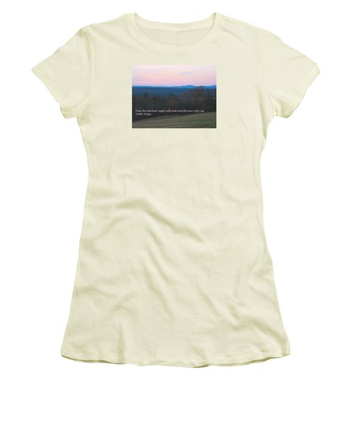 The Sun Will Rise Women's T-Shirt (Athletic Fit)