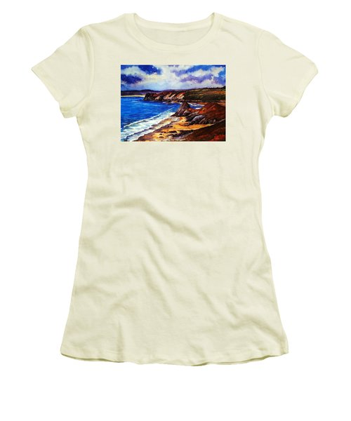 The Three Cliffs Bay Women's T-Shirt (Athletic Fit)