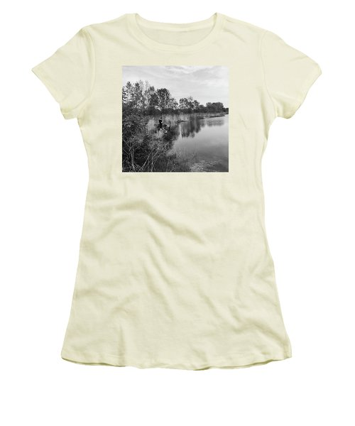 Moving The Water Women's T-Shirt (Junior Cut) by Frank J Casella