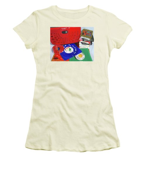 Women's T-Shirt (Junior Cut) featuring the painting The Universal Language by Lynne Reichhart