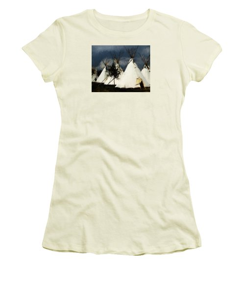 Women's T-Shirt (Junior Cut) featuring the photograph The Village by John Freidenberg