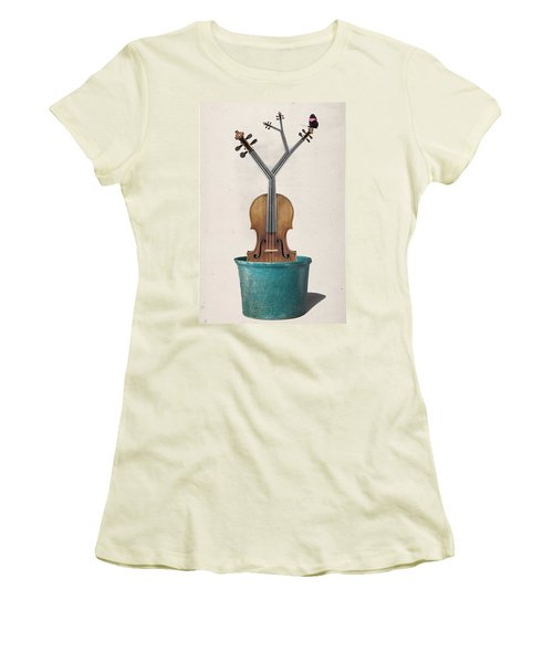 The Voilin Plant Women's T-Shirt (Athletic Fit)