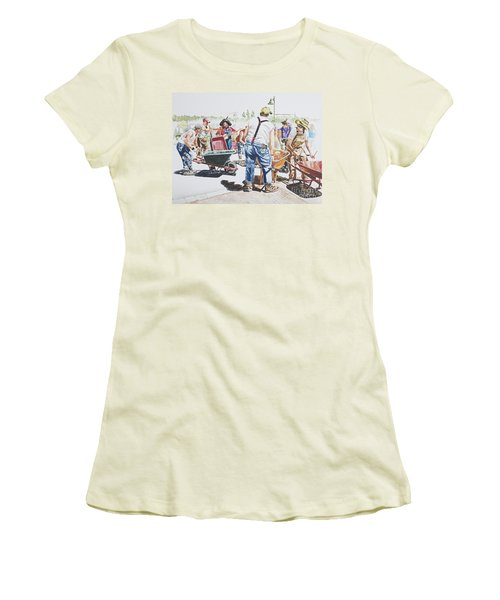 The Wheelsbarrow Band Women's T-Shirt (Athletic Fit)