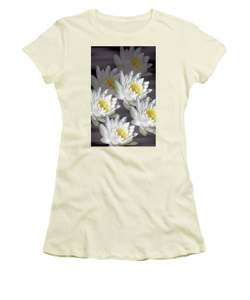 The White Garden Women's T-Shirt (Junior Cut) by Rosalie Scanlon